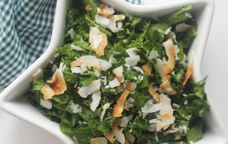 Recipe: Ginger-Sesame Kale Salad with Toasted Coconut | PainDoctor.com